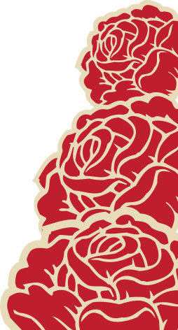 bold red dead-style roses