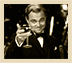 The Great Gatsby toasting champagne